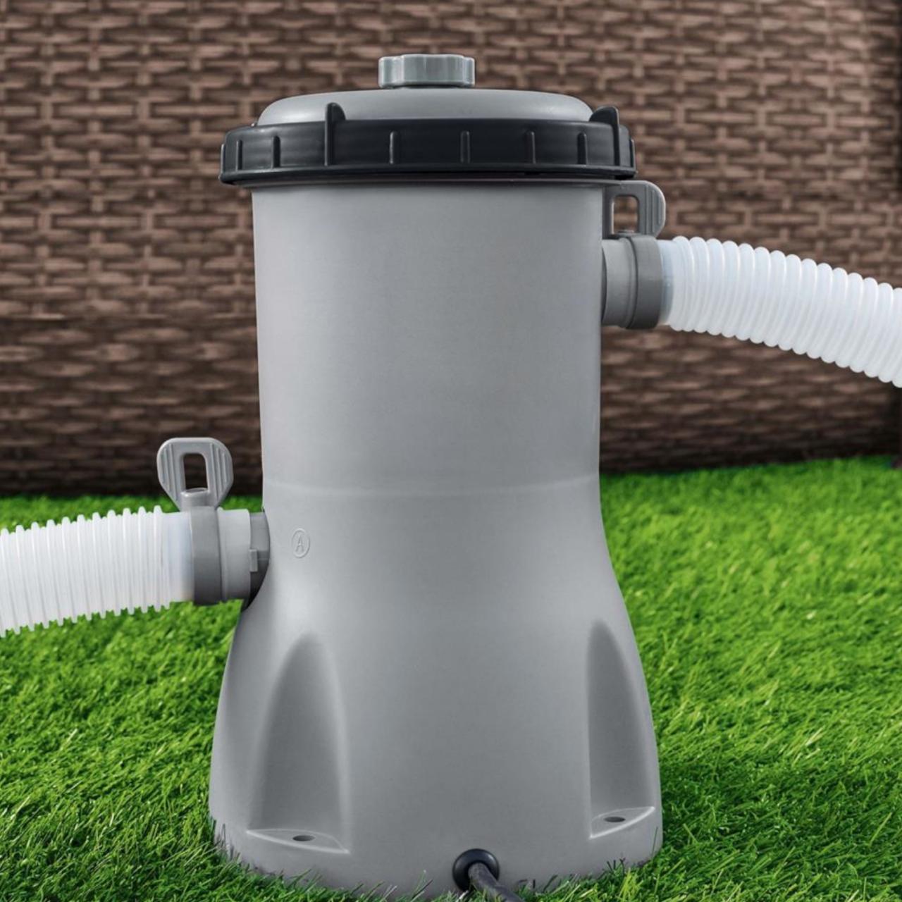 Bestway 58386 Filterpumpe Flowclear Poolreinigung + Filter Pumpleistung 3.028L/h