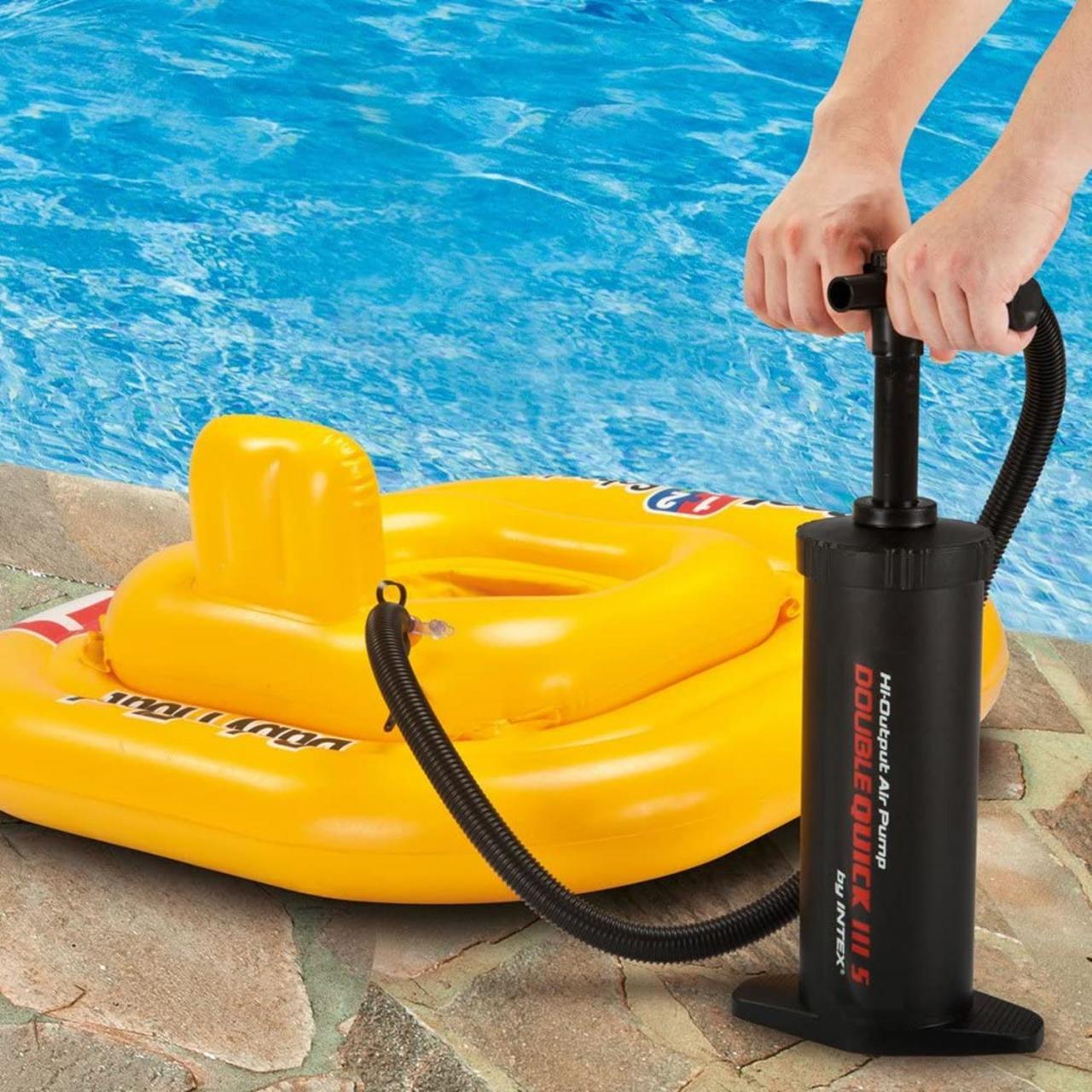 Intex Luftpumpe Doppelhubpumpe Pumpe Handpumpe Pool Luftmatratze Ventile 68605